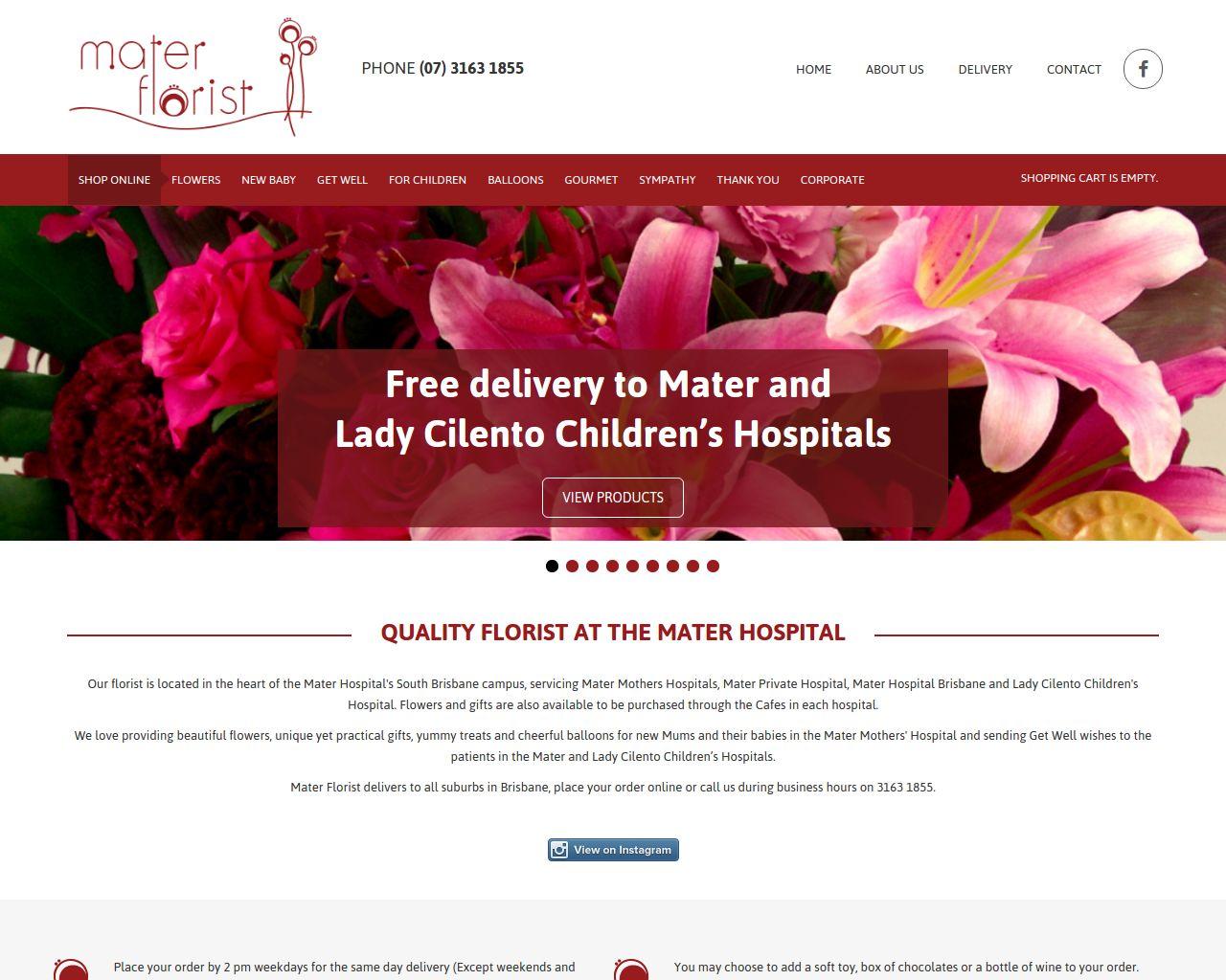 Website Mater Florist